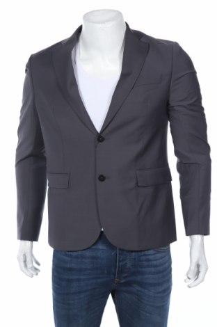 Мъжко сако Marciano, Размер M, Цвят Сив, 52% полиестер, 43% вълна, 5% еластан, Цена 101,32лв.