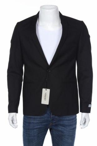 Мъжко сако Viggo, Размер M, Цвят Черен, 64% полиестер, 34% вискоза, 2% еластан, Цена 148,18лв.