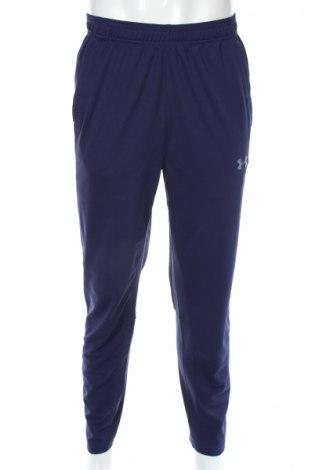 Pantaloni trening de bărbați Under Armour, Mărime XL, Culoare Albastru, Poliester, Preț 177,16 Lei