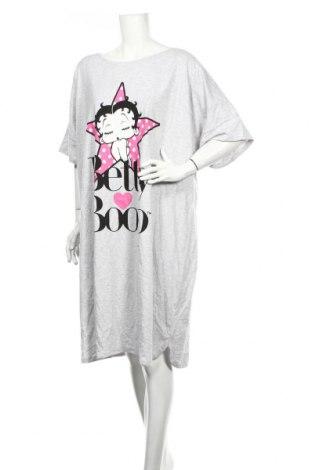 Pijama Betty Boop, Mărime 4XL, Culoare Gri, 50% bumbac, 50% poliester, Preț 84,21 Lei