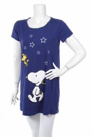 Пижама Peanuts, Размер M, Цвят Син, Памук, Цена 31,68лв.