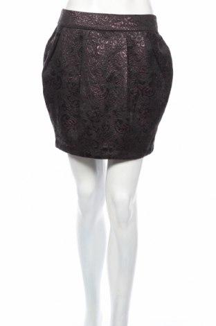 Φούστα F&F, Μέγεθος XS, Χρώμα Μαύρο, 48% πολυεστέρας, 40% βαμβάκι, 12% μεταλλικά νήματα, Τιμή 3,52€