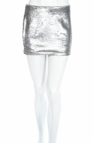 Пола Glamorous, Размер S, Цвят Сребрист, Полиестер, Цена 10,47лв.