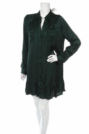 Рокля Guess, Размер L, Цвят Зелен, Вискоза, Цена 96,99лв.
