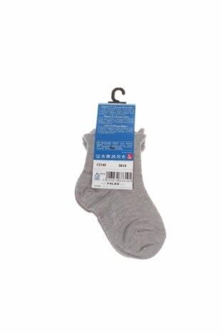 Детски чорапи Falke, Размер 18-24m/ 86-98 см, Цвят Сив, 83% памук, 17% полиамид, Цена 15,12лв.