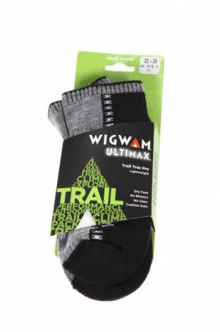 Детски спортни чорапи Wigwam, Размер 7-8y/ 128-134 см, Цвят Черен, 49% тенсел, 35% полиамид, 14% мерино, 2% еластан, Цена 14,96лв.
