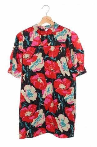 Рокля Zara Trafaluc, Размер XS, Цвят Многоцветен, Полиестер, Цена 39,70лв.