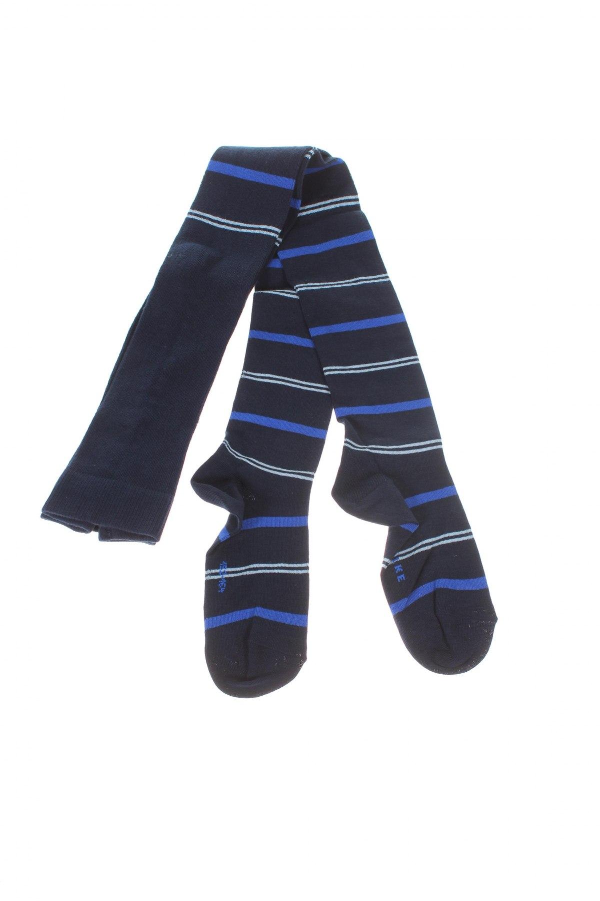 Детски спортни чорапи Falke, Размер 11-12y/ 152-158 см, Цвят Син, 77% памук, 22% полиамид, 1% еластан, Цена 21,76лв.