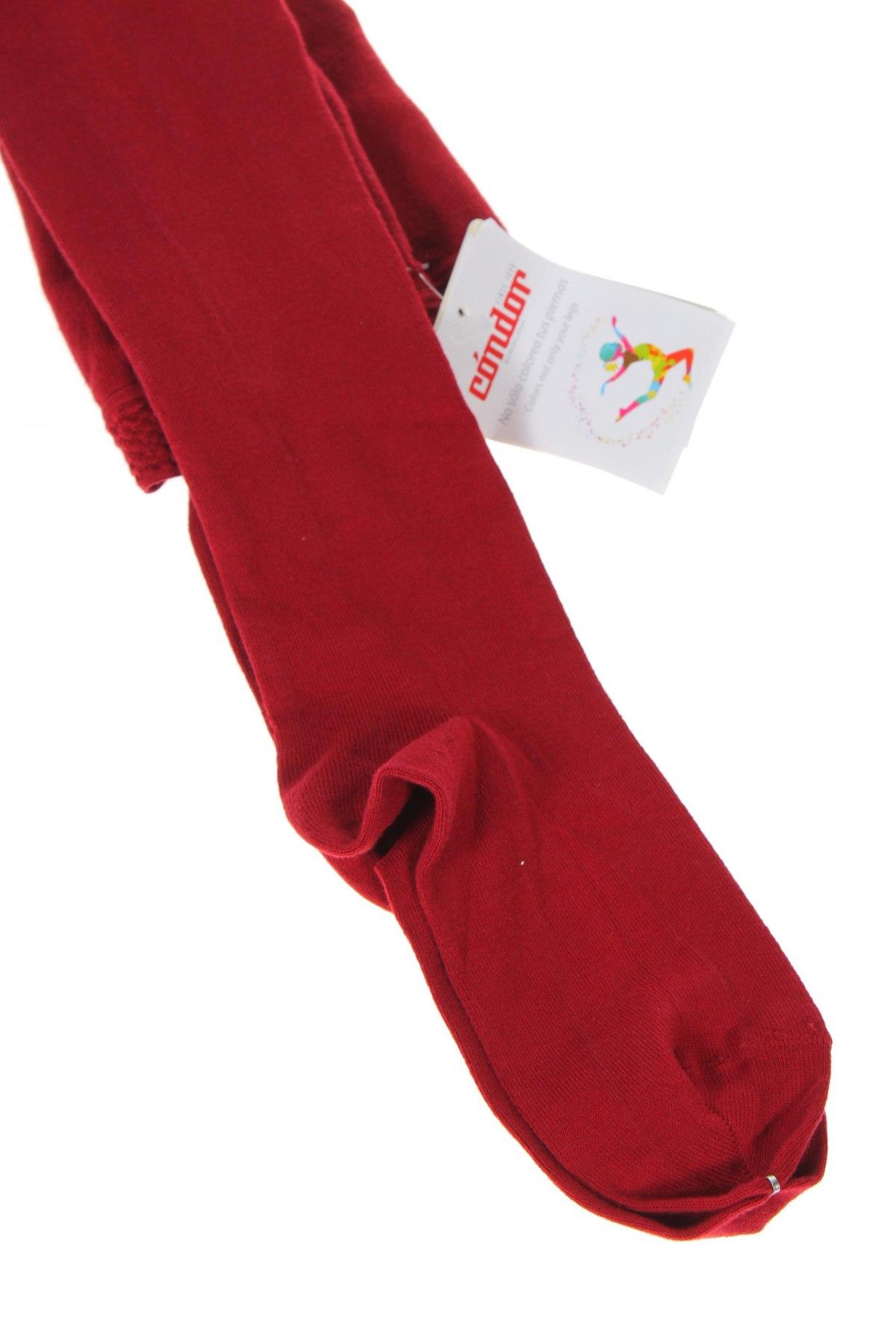 Dresuri pentru copii Condor, Mărime 14-15y/ 168-170 cm, Culoare Roșu, 75% bumbac, 22% poliamidă, 3% elastan, Preț 47,37 Lei