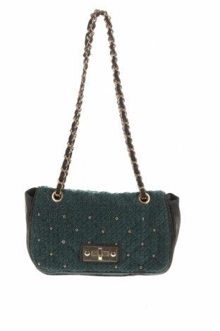 Дамска чанта, Цвят Зелен, Текстил, еко кожа, Цена 25,94лв.