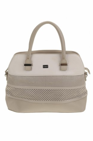 Дамска чанта David Jones, Цвят Бежов, Еко кожа, Цена 36,91лв.