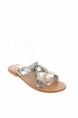 Чехли W.S Shoes, Размер 38, Цвят Сив, Естествена кожа, Цена 70,31лв.