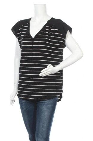 Дамска блуза Adrienne Vittadini, Размер L, Цвят Черен, 96% вискоза, 4% еластан, Цена 15,96лв.