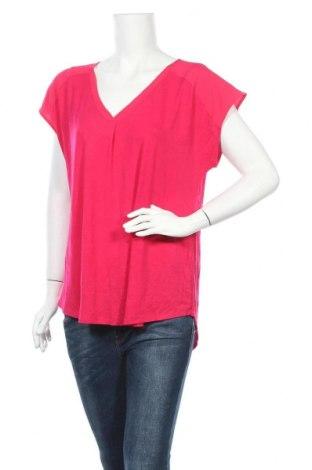 Дамска блуза Adrienne Vittadini, Размер L, Цвят Розов, Вискоза, полиестер, еластан, Цена 29,30лв.
