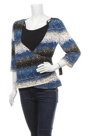 Дамска блуза Agb, Размер L, Цвят Многоцветен, 96% полиестер, 4% еластан, Цена 18,48лв.