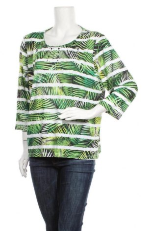 Дамска блуза Alfred Dunner, Размер L, Цвят Многоцветен, 95% полиестер, 5% еластан, Цена 17,96лв.