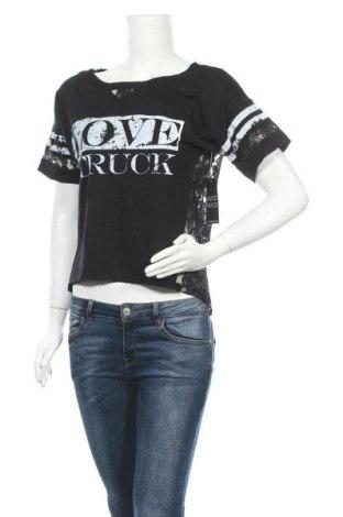 Дамска блуза Almost Famous, Размер M, Цвят Черен, 55% памук, 45% полиестер, Цена 24,99лв.