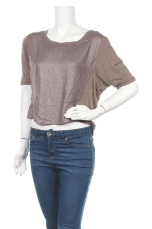 Дамска блуза BCBG Max Azria, Размер L, Цвят Кафяв, Полиестер, модал, Цена 26,04лв.
