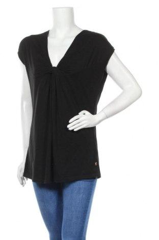 Дамска блуза Boss Orange, Размер L, Цвят Черен, 50% модал, 50% памук, Цена 38,88лв.
