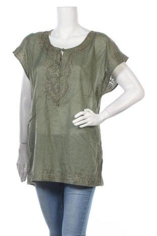 Дамска блуза JAG, Размер XL, Цвят Зелен, Памук, Цена 23,21лв.