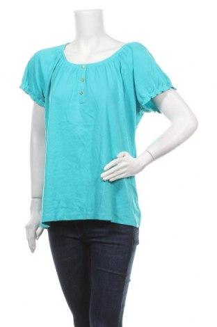 Дамска блуза Karen Scott, Размер XL, Цвят Син, 60% памук, 40% полиестер, Цена 24,99лв.