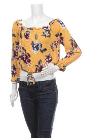 Дамска блуза Kendall & Kylie, Размер L, Цвят Жълт, Вискоза, Цена 4,84лв.