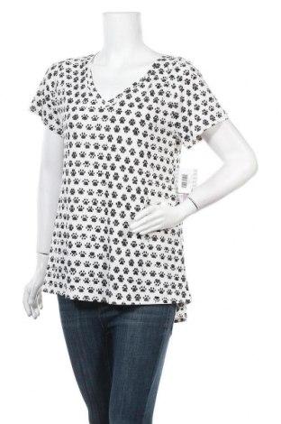 Дамска блуза LulaRoe, Размер M, Цвят Бял, 95% полиестер, 5% еластан, Цена 19,79лв.