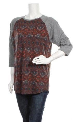 Дамска блуза LulaRoe, Размер L, Цвят Сив, 95% полиестер, 5% еластан, Цена 15,96лв.
