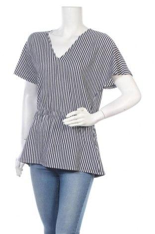 Дамска блуза Mads Norgaard, Размер S, Цвят Син, 50% памук, 50% полиестер, Цена 14,06лв.