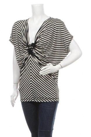 Дамска блуза Max Studio, Размер M, Цвят Бял, 50% вискоза, 45% полиестер, 5% еластан, Цена 6,76лв.