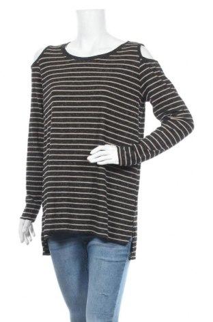 Дамска блуза Mix, Размер L, Цвят Черен, Полиестер, еластан, Цена 6,62лв.
