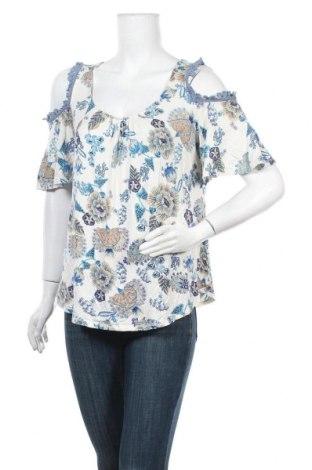 Дамска блуза One World, Размер L, Цвят Многоцветен, 96% вискоза, 4% еластан, Цена 16,07лв.