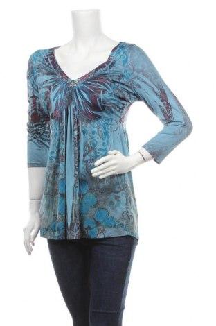 Дамска блуза One World, Размер S, Цвят Син, 94% полиестер, 6% еластан, Цена 13,44лв.