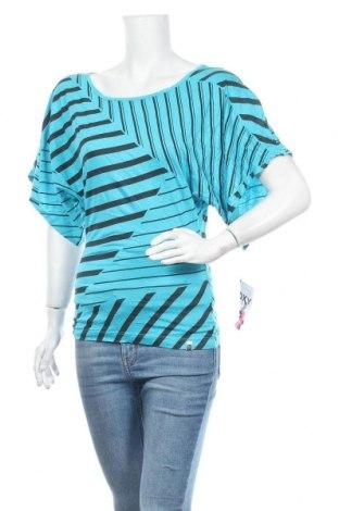 Дамска блуза Roxy, Размер S, Цвят Син, 50% памук, 50% модал, Цена 24,94лв.
