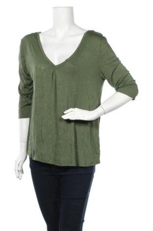 Дамска блуза So, Размер L, Цвят Зелен, 95% вискоза, 5% еластан, Цена 14,28лв.