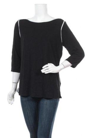 Дамска блуза Tahari, Размер XL, Цвят Черен, 93% модал, 7% еластан, Цена 28,56лв.