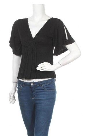 Дамска блуза Venus, Размер L, Цвят Черен, 65% памук, 32% вискоза, 3% еластан, Цена 8,03лв.