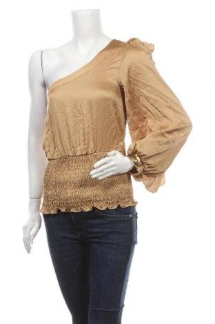 Дамска блуза Xoxo, Размер S, Цвят Кафяв, Цена 21,42лв.