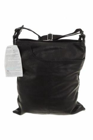 Дамска чанта Bare, Цвят Черен, Естествена кожа, Цена 168,32лв.