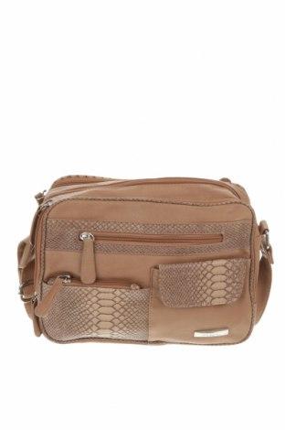 Дамска чанта, Цвят Кафяв, Еко кожа, Цена 34,02лв.