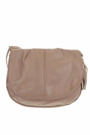 Дамска чанта, Цвят Бежов, Еко кожа, Цена 22,84лв.