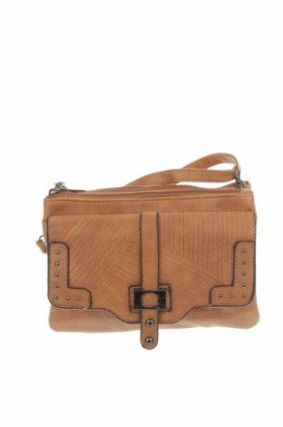Дамска чанта, Цвят Кафяв, Еко кожа, Цена 29,40лв.