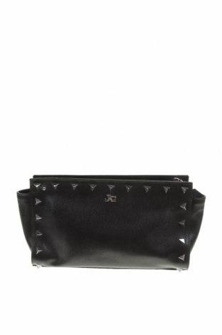 Дамска чанта Jacky & Celine, Цвят Черен, Естествена кожа, Цена 27,93лв.