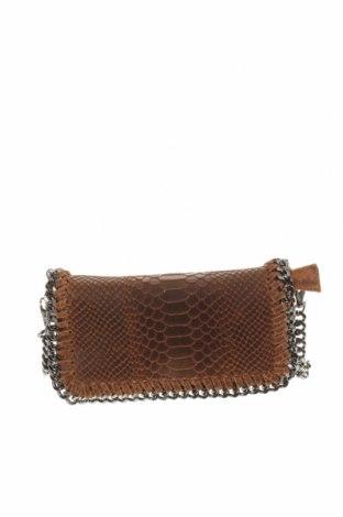 Дамска чанта, Цвят Кафяв, Естествена кожа, Цена 41,90лв.