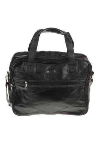 Дамска чанта, Цвят Черен, Естествена кожа, еко кожа, Цена 15,44лв.