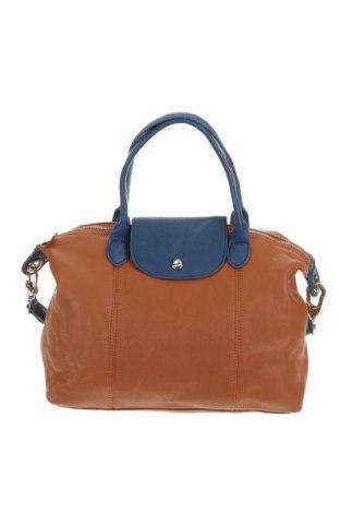 Дамска чанта, Цвят Кафяв, Естествена кожа, Цена 71,40лв.