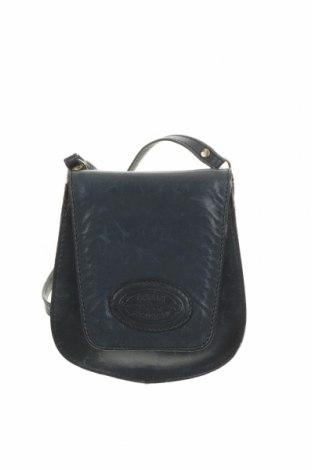 Дамска чанта, Цвят Син, Естествена кожа, Цена 27,72лв.