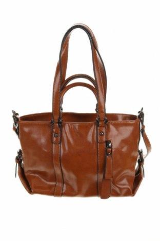 Дамска чанта, Цвят Кафяв, Естествена кожа, Цена 35,49лв.