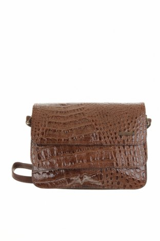 Дамска чанта, Цвят Кафяв, Естествена кожа, Цена 54,60лв.