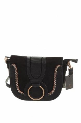 Дамска чанта, Цвят Черен, Еко кожа, текстил, Цена 30,87лв.